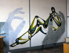 Wicked Masking Tape Street Art