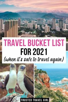 Travel Bucket List for 2021 (when it s safe to travel again). With the pandemic, there is a huge build-up for travelers to experience bucket-list destinations. This Travel Bucket List is chock full of adventures and ideas for even the most well-traveled explorers! Travel Bucket List Destinations | Travel Bucket List Ideas | 2021 Travel Bucket List | Where to go in 2021 | 2021 Best Destinations | #bucketlist #destinations