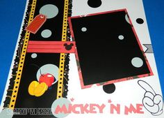 Mickey Mouse Handmade Double Page Scrapbook Layout