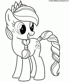 My Little Pony: Dibujos para colorear de Applejack de My Little Pony