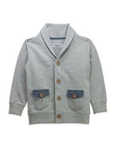Sovereign Code Boys 2-7 Long Sleeve Cardigan  Grey 7X