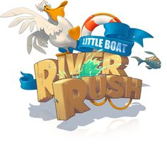 Little Boat River Rush iOS Game by Aleksandr Novoselov, via Behance #ui #gameui
