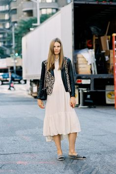 nice mix up #CarolineBraschNielsen. #offduty in NYC. #VanessaJackman