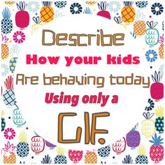 With kids getting ready to go back to school. Comment with a GIF how are your kids acting today. Facebook Group Games, Facebook Party, Facebook Engagement Posts, Social Media Engagement, Pure Romance Games, Thirty One Facebook, Facebook Mom, Thirty One Games, Interactive Facebook Posts