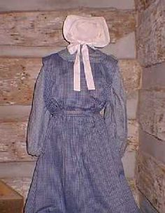 1840 Pioneer Clothing | Adult's Three Piece Pioneer Ensemble (includes underdress, apron, and ...