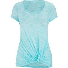 maurices Short Sleeve Tee With Knot Bottom ($26) ❤ liked on Polyvore featuring tops, t-shirts, shirts, tees, ocean tide, short sleeve tees, t shirts, knotted t shirt, lightweight t shirts and blue shirt