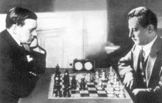 Alekhine and Capablanca, 1927