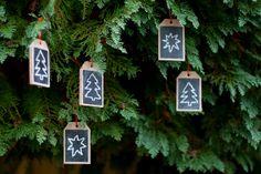 UKKONOOA: Eco-friendly chalkboard tags / ornaments