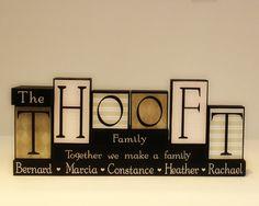 Family Name Blocks - Personalized Wood Blocks - Living Room Decor - Name Letter Blocks - Last Name Blocks - Family Blocks - Mothers Day Gift