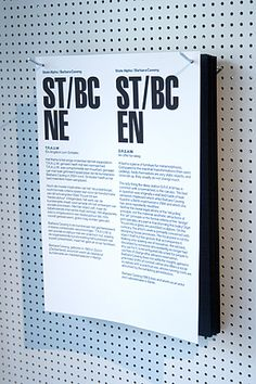 Typography on metal hooks. Group exhibition 'State Alpha: On the Architecture of Sleep', NaiM 2008 Web Banner Design, Exhibition Display, Exhibition Space, Environmental Graphics, Environmental Design, Signage Display, Store Signage, Display Window, Habitat Collectif