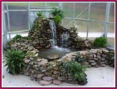 A superb fish pond design will enable the individual to plan a fish pond which is going to be attractive and won't be hard to look after. In the start, you might say you don't need any fish in the pond. Indoor Pond, Indoor Water Garden, Indoor Water Fountains, Backyard Water Feature, Garden Fountains, Ponds Backyard, Solar Fountains, Indoor Fountain, Indoor Waterfall