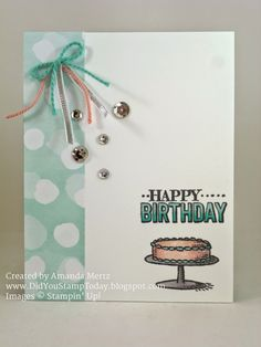 Did You Stamp Today?: Clean & Simple Cake  Uses: Big Day stamp set, Best Year Ever DSP, 2015 Sale-a-Bration, Stampin' Up!, SU