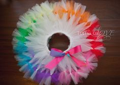 All tutus are created using a tie-technique onto a non-roll elastic waist band. Your tutu can stretch an additional 3 inches are your little one grows. Tulle Projects, Tulle Crafts, Sewing Projects, Projects To Try, Diy Tutu, Tulle Tutu, Little Girl Dresses, Little Girls, Robes Tutu