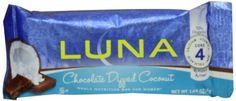 Luna Bar Chocolate Dipped Coconut, 1.69 Ounce Bars, 15 Count - http://www.gainmusclefastnow.com/luna-bar-chocolate-dipped-coconut-1-69-ounce-bars-15-count/