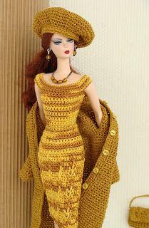 Barbie  Croche: Pap da roupa de croche para barbie                              …