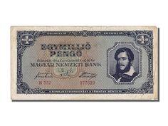 Banknoten Hungary, Hongrie, 1,000,000 Pengö