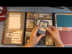 Scrapbook folder folio - YouTube