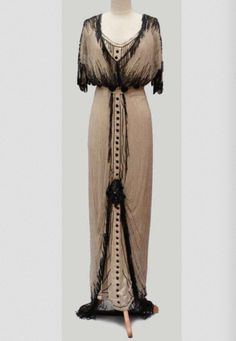 Beaded Evening Dress, ca. 1910