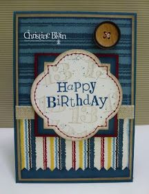 HAPPY HEART CARDS: STB # 6 : STAMPIN' UP! TEENAGE BOY BIRTHDAY CARD by Christine Blain