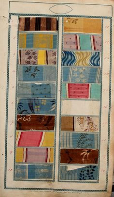 French fabric sample book, 1825