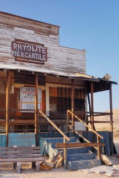 Rhyolite Ghost Town in Nevada.