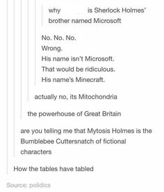doesn't sherlock have a sister named enola? Sherlock Fandom, Sherlock Holmes, John Barrowman, Hunger Games, Funny Memes, Hilarious, Funny Tweets, Funny Tumblr Posts, Johnlock