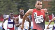 Canada's Andre De Grasse wins his final race before Rio Olympics In his final tune-up for the big Games, the Markham native beat former world record-holder Asafa Powell of Jamaica at the American Track League meet Olympic Trials, Record Holder, Toronto Star, Canada, Rio Olympics 2016, World Records, Triathlon, Finals, Athlete