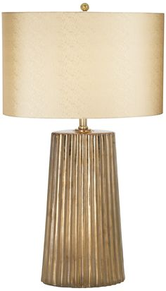 "Pacific Coast Lighting Gallery Kathy Ireland Tangiers 31.5"" H Table Lamp with Drum Shade & Reviews 
