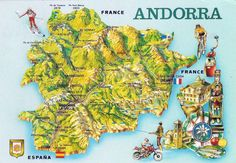 andorra map Google Search Travel to Andorra Pinterest