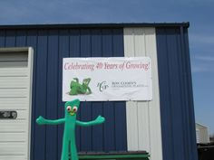 Happy 40th Anniversary RCOP! This year marks our 40th Anniversary, and Gumby is really liking his appearance on the side of our head house!