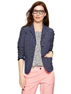 "Spotted while shopping on Poshmark: ""Gap Polka Dot Academy Blazer""! Gap Outfits, Chic Outfits, Work Outfits, Polka Dot Blazer, Polka Dots, Angel Outfit, Fashion Tips, Fashion Design, Fashion Trends"