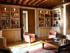 Spend the afternoon reading in your own private library! This castle in France is available to rent on HomeAway!