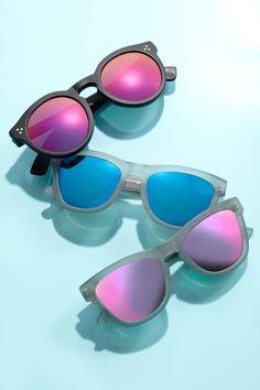 Sun's up, shades on.