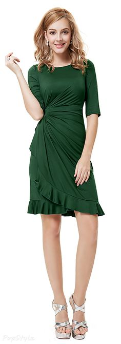 Ruffled Wear to Work Dress