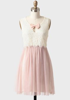 at Ruche // pink white with bow detail dress