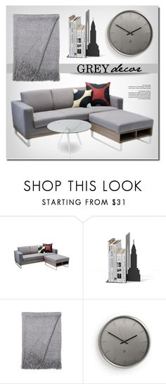 """""""One Color Decor"""" by lovethesign-eu ❤ liked on Polyvore featuring interior, interiors, interior design, home, home decor, interior decorating, Umbra, livingroom, gray and homedecor"""
