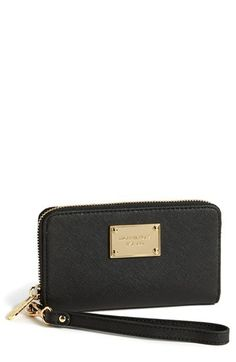 MICHAEL Michael Kors Leather Smartphone Wristlet available at #Nordstrom