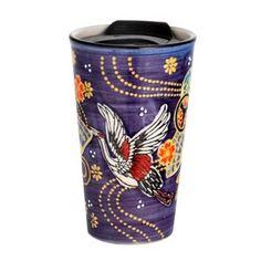Handpainted Ryu Dragon Design Porcelain Travel Mug Double Wall | Etsy Asian Design, Fish Design, Dragon Design, Paint Designs, Safe Food, Travel Mug, Oriental, Porcelain, Hand Painted