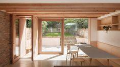 Local studio O'Sullivan Skoufoglou Architects has rearranged the ground floor of a Victorian terraced house in north London. Interior Barn Doors, Home Interior, Interior Architecture, Interior And Exterior, Contemporary Architecture, Interior Design, Modern Interior, Design Design, Modern Design