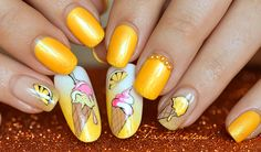 nail art glace citron fruit