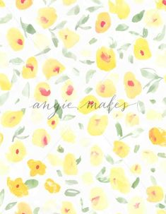Cute Yellow Abstract