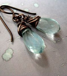 Hey, I found this really awesome Etsy listing at https://www.etsy.com/listing/225871039/aqua-quartz-earrings-handmade-aquamarine