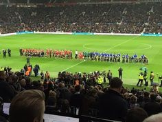 The teams are out - David Beckham's UNICEF charity match for children