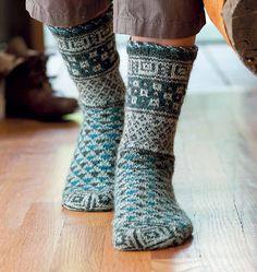 french market socks by Nancy Bush