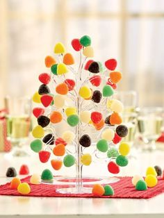 Gumdrop Tree like the one from the musical Babes in Toyland. Holiday gum drop tree adds festive flavor to your decor and holds about 60 gumdrops. Candy Land Christmas, Plastic Christmas Tree, Merry Christmas, Candy Christmas Decorations, Christmas Balls, Simple Christmas, Christmas Time, Christmas Cooking, Christmas Goodies