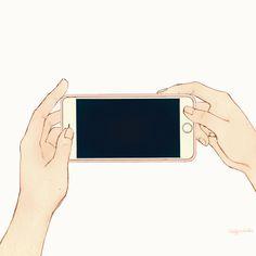 韓國살구 salgoolulu動態圖 Animated Gif Illustrator by 살구 salgoolulu Film Aesthetic, Aesthetic Anime, Anime Gifs, Anime Art, Aesthetic Backgrounds, Aesthetic Wallpapers, Youtube Editing, Foto Gif, Youtube Design