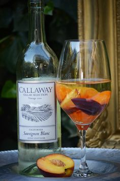 Summer drink: peaches and wine