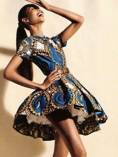 i love the African print dress