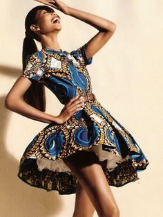 i love the African print  dress