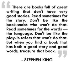 Stephen King- LOVE THIS